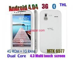 Smart phone 3G WCDMA MTK 6577 Dual Core Android 4.0 RAM 1GB ROM 4GB